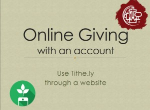 give with account